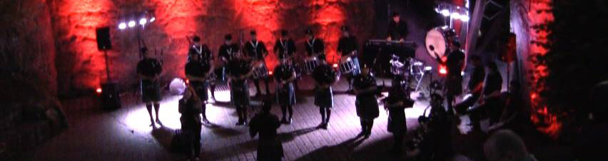 Odenwald Pipes and Drums - Konzert auf Burg Falkenstein